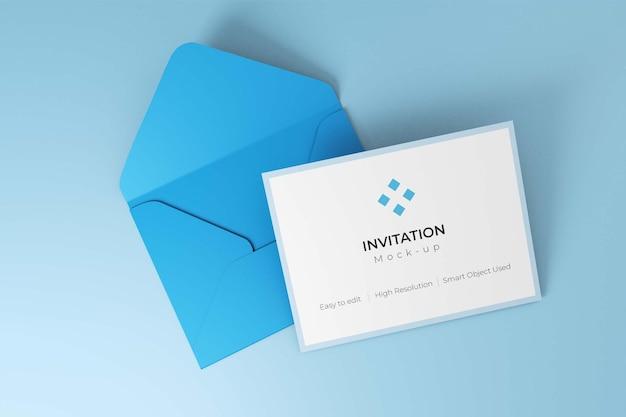 Mockup di design dell'invito