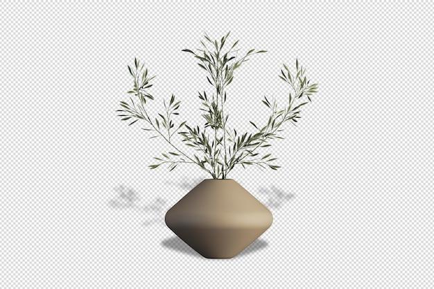 Iris fiori di vaso in rendering 3d