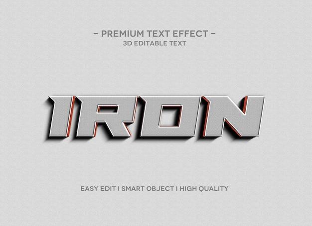 Modello di effetto testo 3d in ferro