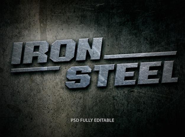 Stile di carattere ferro acciaio