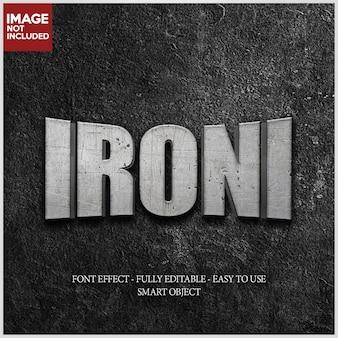 Struttura del ferro effetto font 3d