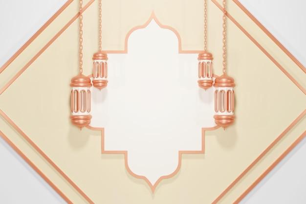 Decorazione espositiva islamica con lanterna araba