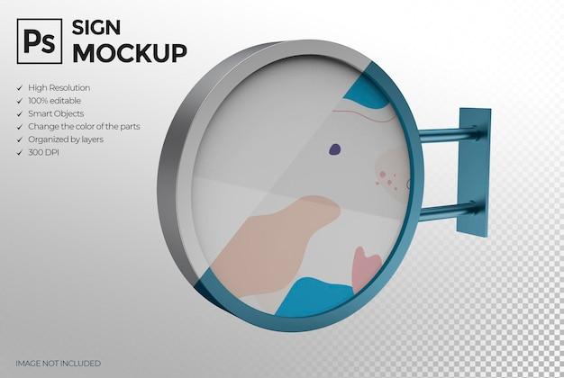 Progettazione di mockup del segno di affari 3d isolato