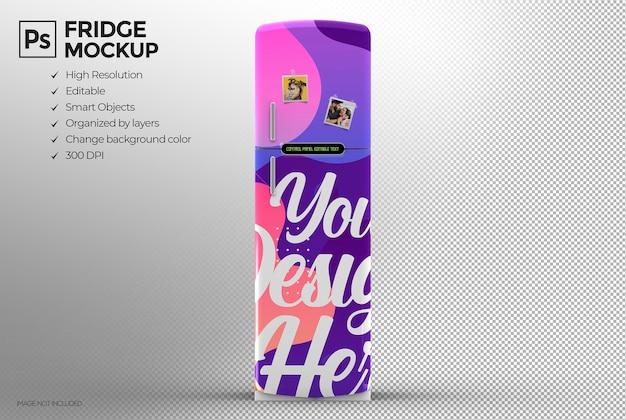 Isolato 3d frigo moderno mockup design