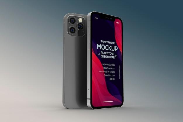 Design mockup smartphone 3d isolato