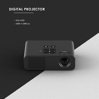 Proiettore digitale nero isolato dalla vista frontale superiore