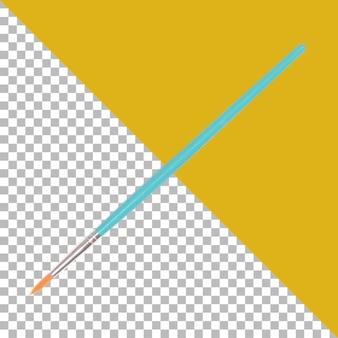Pennello per acquerelli da disegno blu isolato