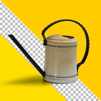 Annaffiatoio marrone isolato su sfondo trasparente