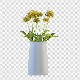 Cespuglio isolato con bellissimi fiori Psd Premium