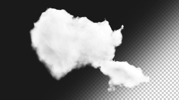 Sfondo nuvola isolato 6