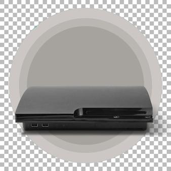 Console di gioco nero scuro isolato su sfondo trasparente
