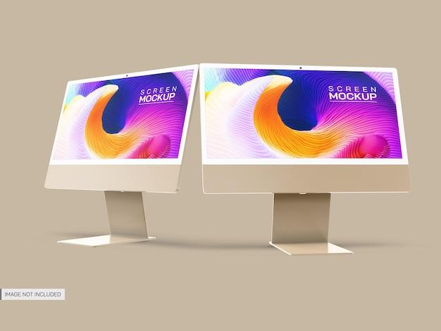 Modello di schermo desktop isolato