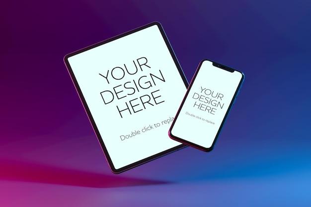 Rendering 3d di mockup di dispositivi isolati