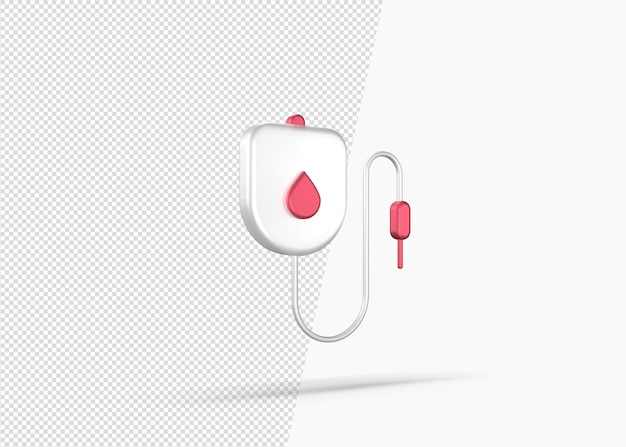 Icona 3d del sacchetto di infusione isolato