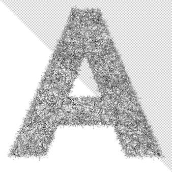 Unghia isolata 3d lettera a