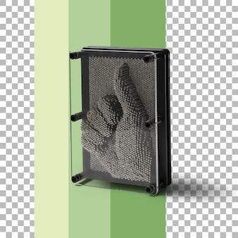 Gadget per unghie isolato