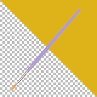 Pennello per acquerelli da disegno viola isolato