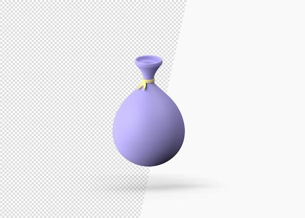 Icona 3d borsa zakat isolato