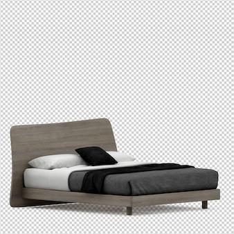 Il letto isometrico 3d rende isolato