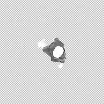 Il panno isometrico 3d isolato rende