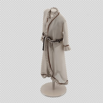L'abbigliamento isometrico come 3d isolato rende