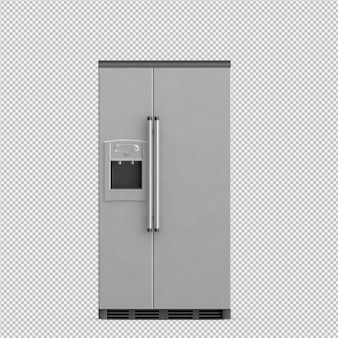 Il frigorifero isometrico 3d rende