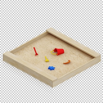 Sabbia ragazzino isometrica