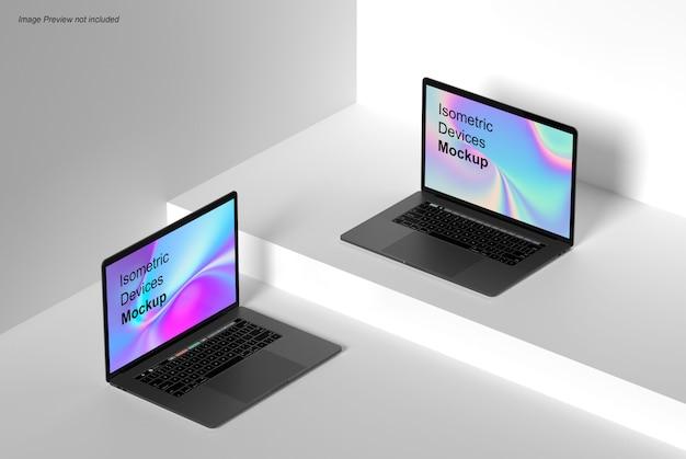 Mockup di laptop isometrico