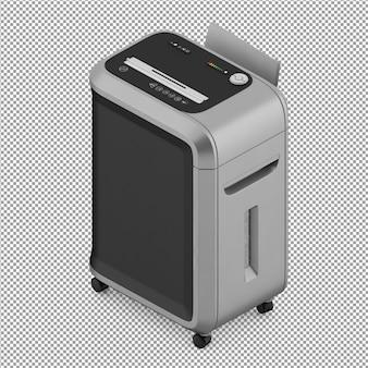 L'attrezzatura per ufficio isometrica 3d rende