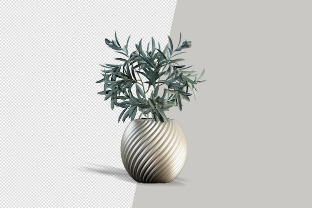 Rendering 3d di piante isometriche
