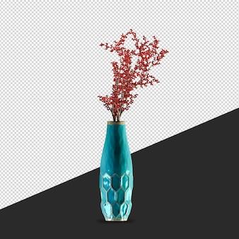 Fiore della pianta isometrica in vaso nella rappresentazione 3d