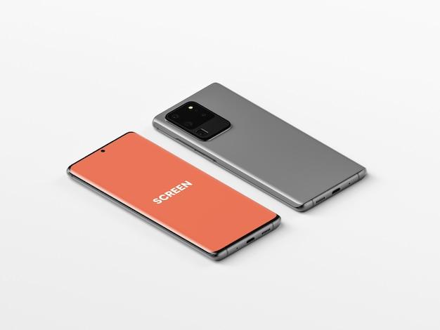 Isometrica smartphone mockup