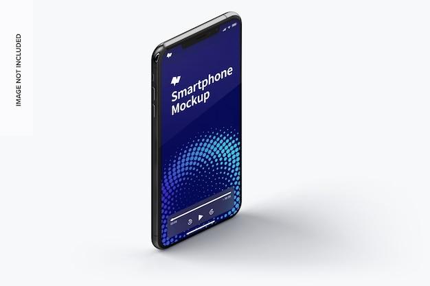 Mockup di smartphone isometrico