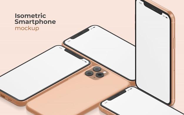 Modello di smartphone isometrico