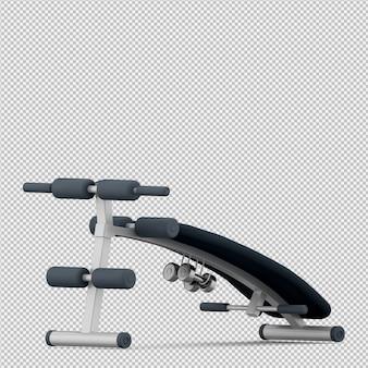 Lo sport isometrico e l'attrezzatura di ginnastica 3d rendono