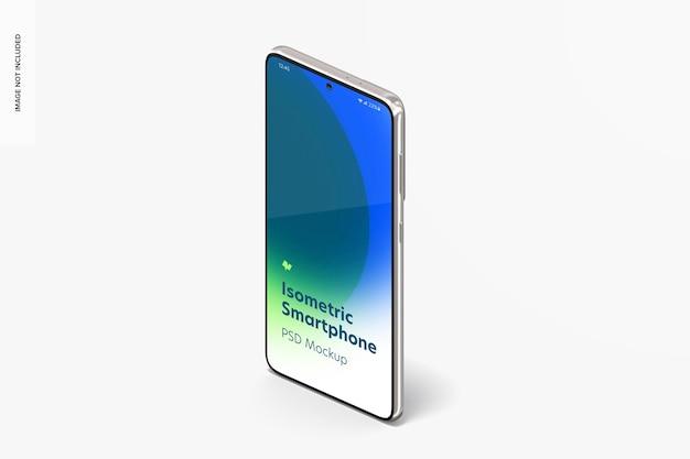 Vista isometrica di smartphone mockup