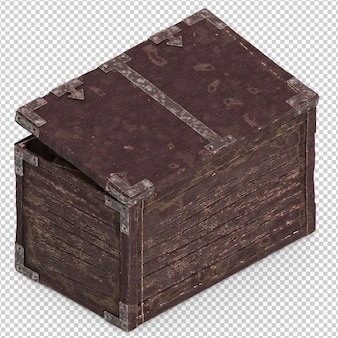 Scatola vintage isometrica