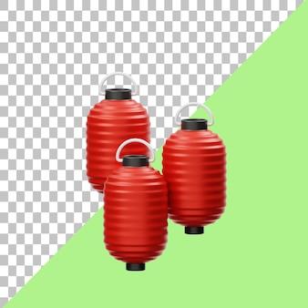 Lanterna giapponese illustrazione 3d