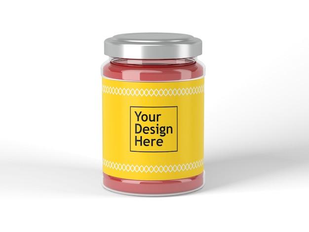 Vaso con mockup di etichetta