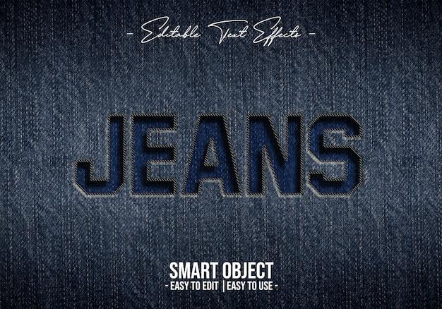 Jeans effetto stile testo