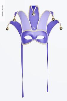 Mockup di maschera mezza faccia da giullare