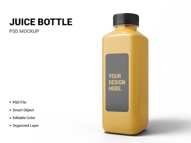 Design mockup bottiglia di succo isolato