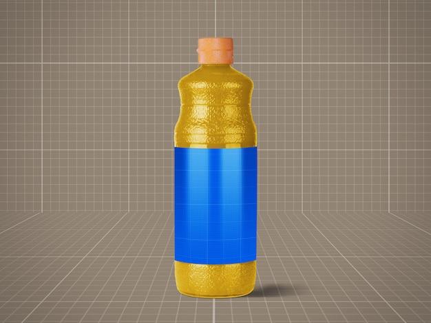 Mockup di bottiglia di succo