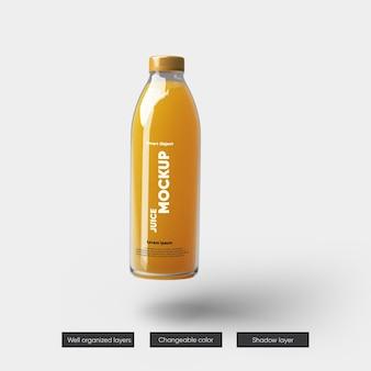 Progettazione di mockup di confezionamento di bottiglie di succo