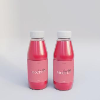 Bottiglia di succo mockup realistico