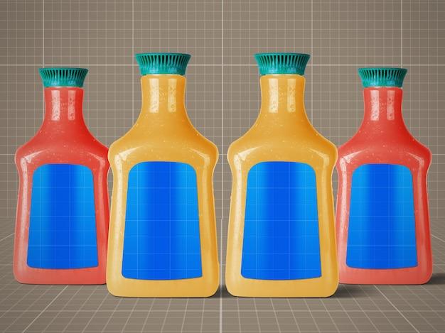 Mockup di bottiglie di succo