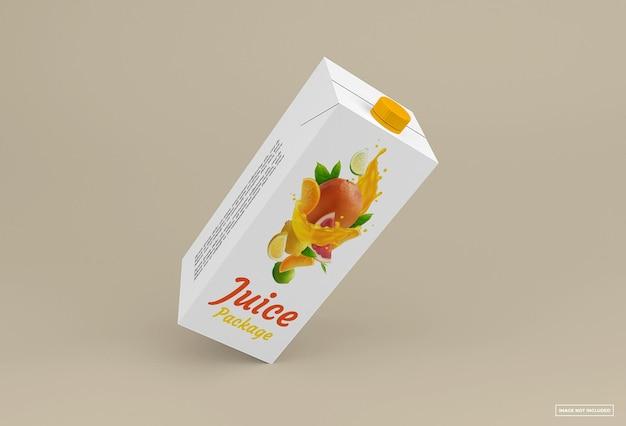 Design isolato mockup di succo di frutta