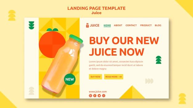 Modello web della pagina di destinazione del succo
