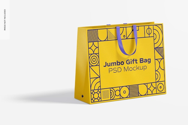Borsa regalo jumbo con manico a nastro mockup