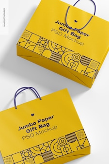 Sacchetto regalo in carta jumbo con manico in corda